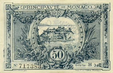 50 франков монако оборотная сторона 27 12